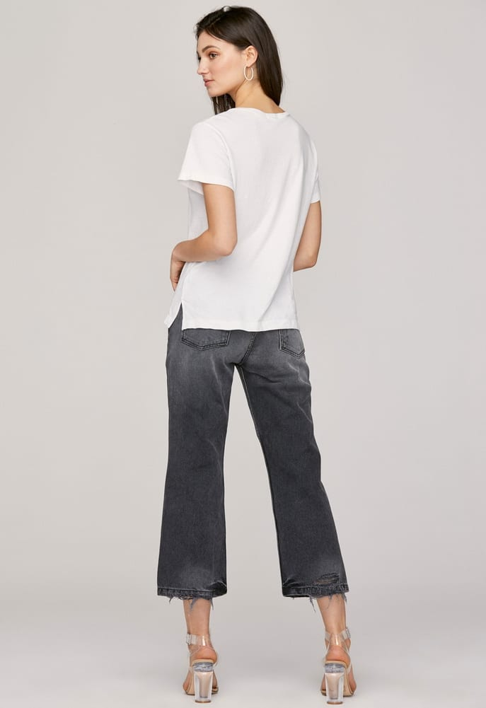 ESSENTIAL COTTON MASON CREW WHITE
