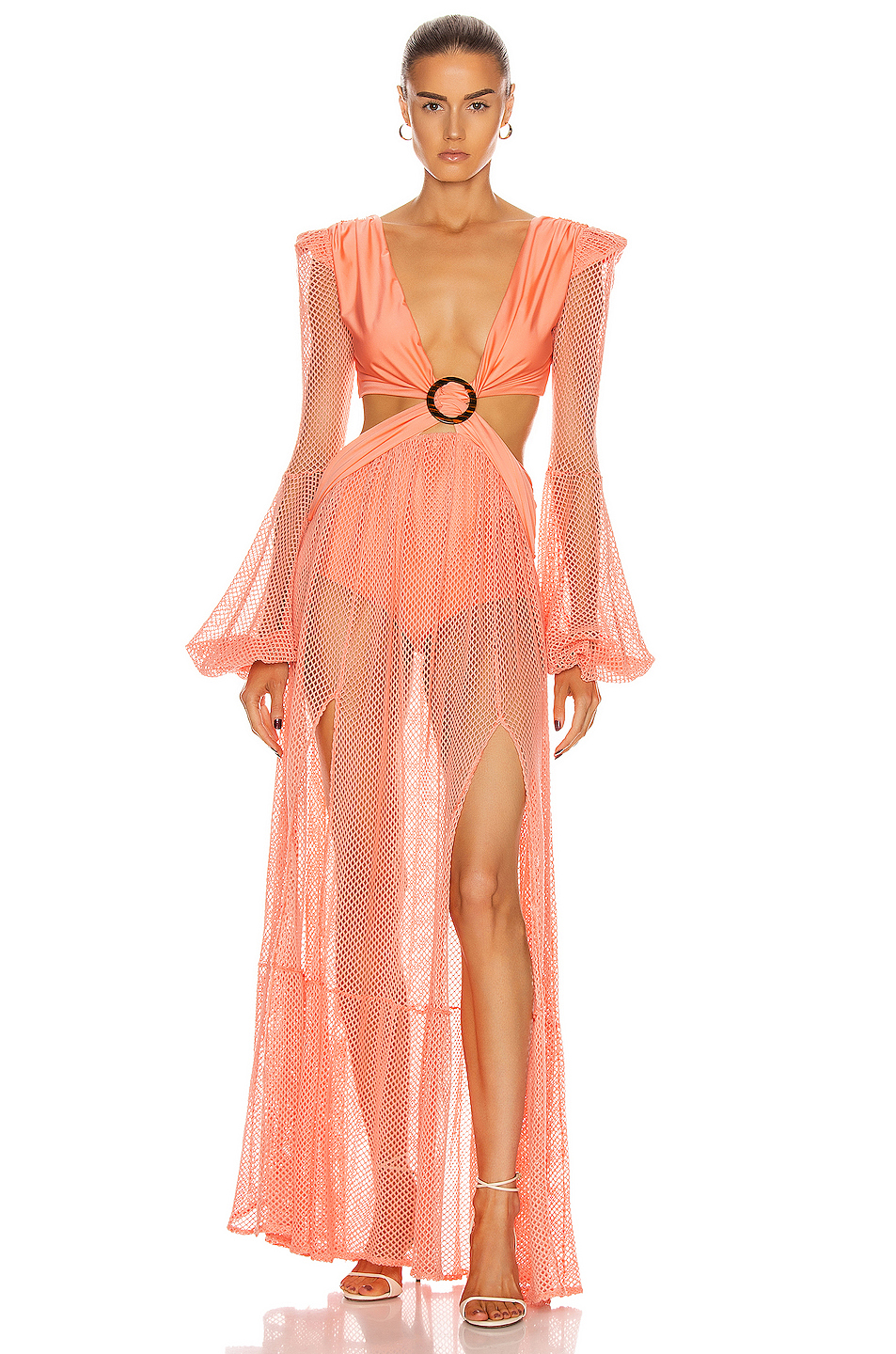 LS MESH BEACH DRESS