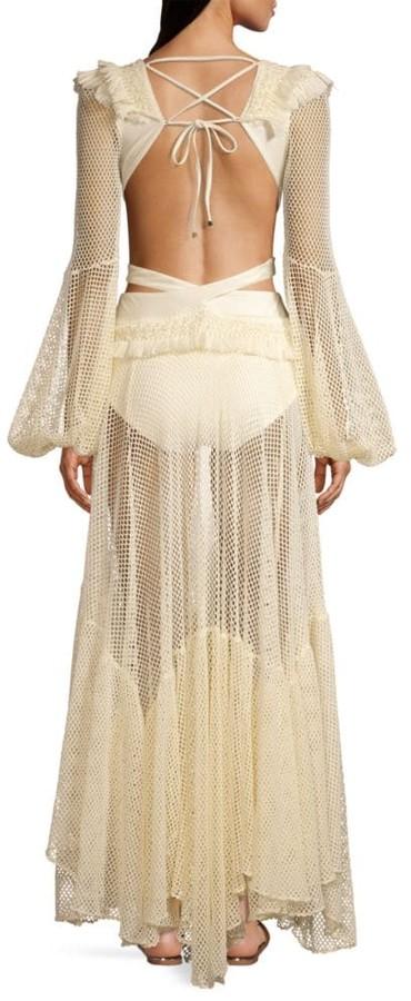 LS FRINGE BEACH DRESS