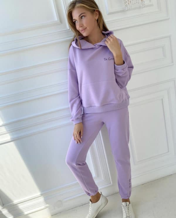"Lilac track suit ""In Love"""