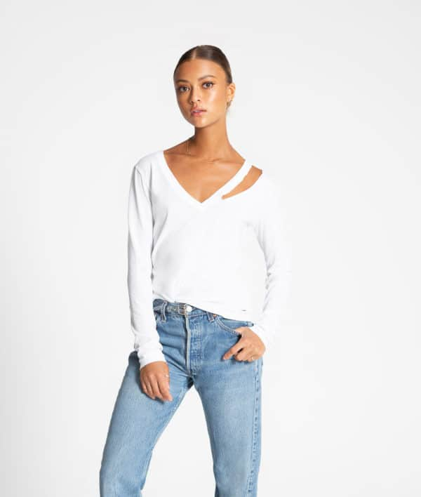 Vicky V Neck Long Sleeve