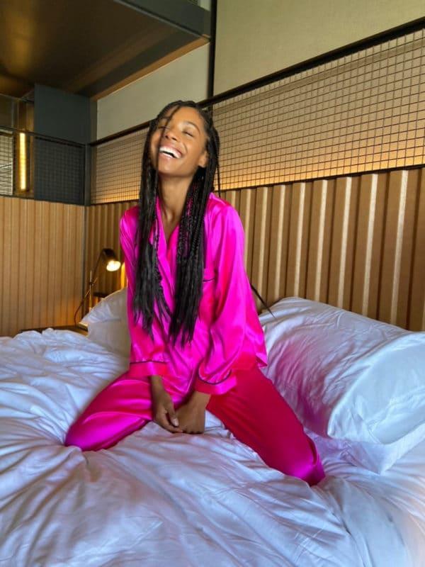 Nikki Hot Pink Pajama Set