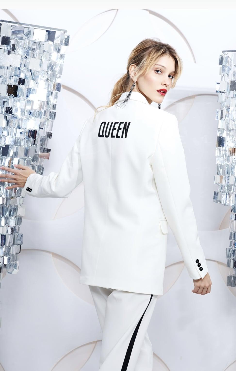 """""""Queen"""" White Blazer"""
