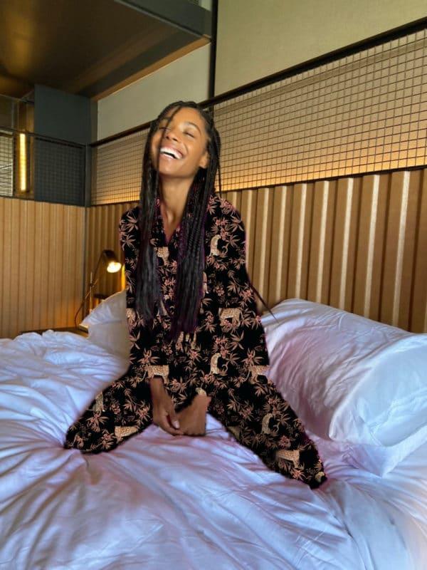 Nikki Moving Leopard Pajama Set