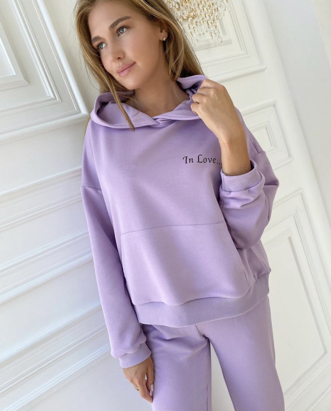 """Lilac track suit """"In Love"""""""