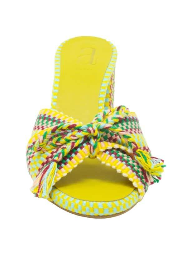 Fey Woven Heel Sandal