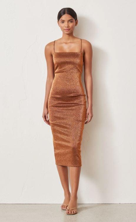 Bronze Baby Midi Dress