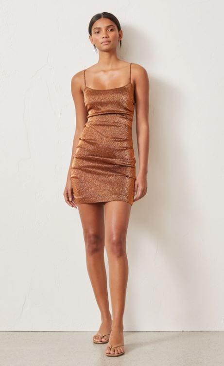 Bronze Baby Mini Dress