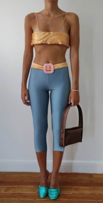 Baby Blue Yorgan Belt Tights