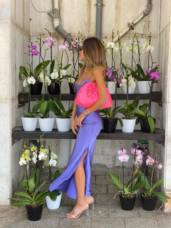 Tie Strap LS Dress Violetta