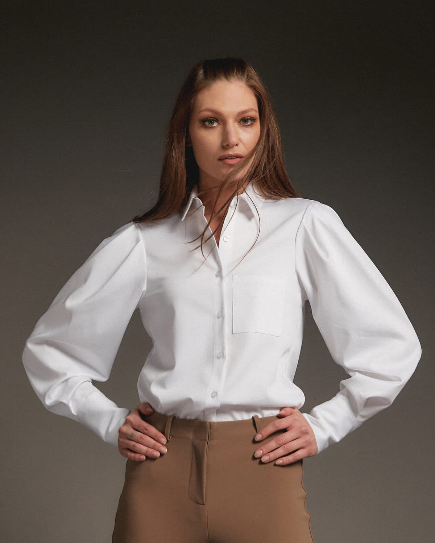 Diane Classic Shirt White