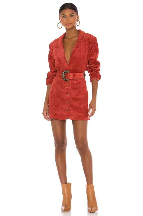 Carson Blazer Dress Red