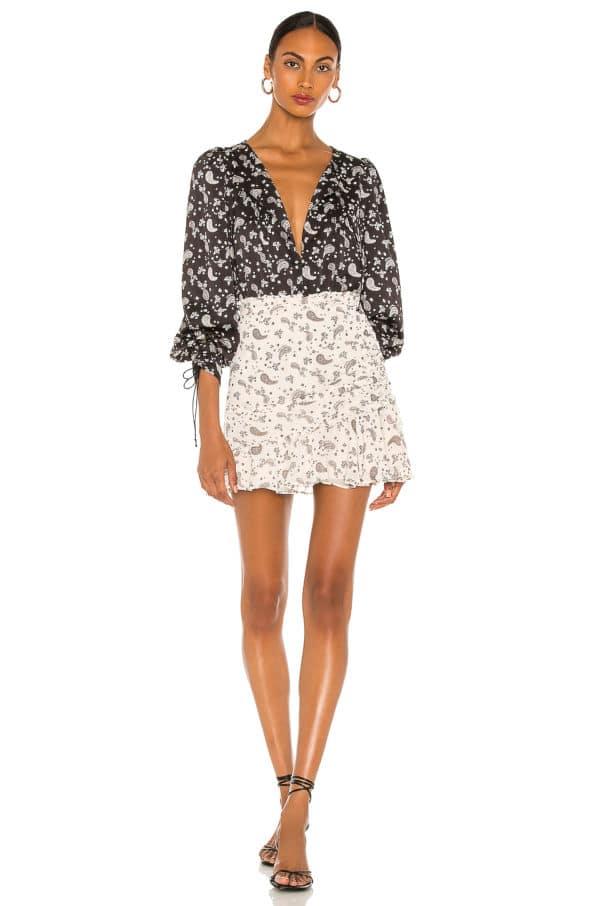 Paisley Mini Skirt