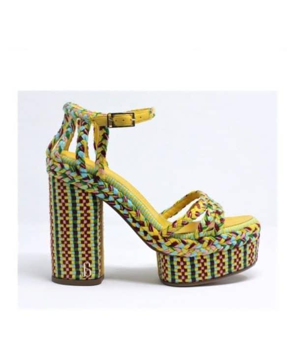 Fedra Woven Platform Sandal