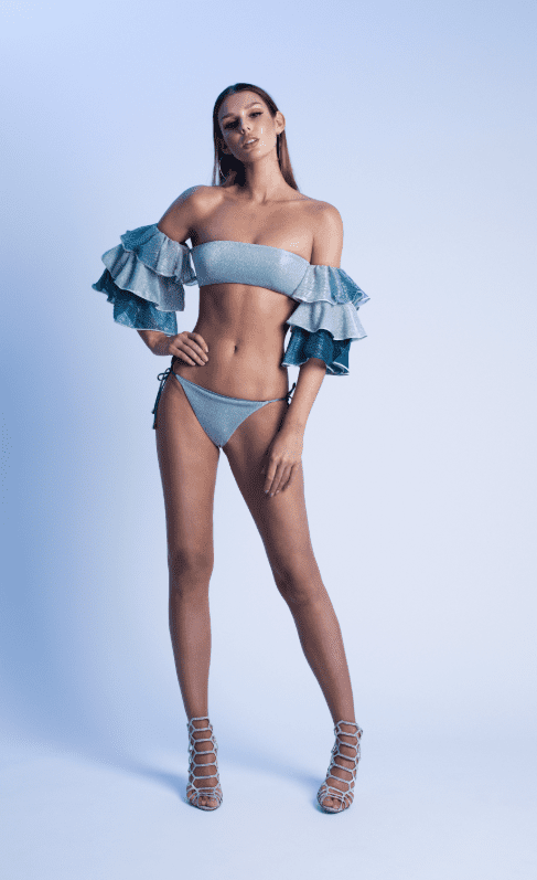 Bandeau Lurex Bikini