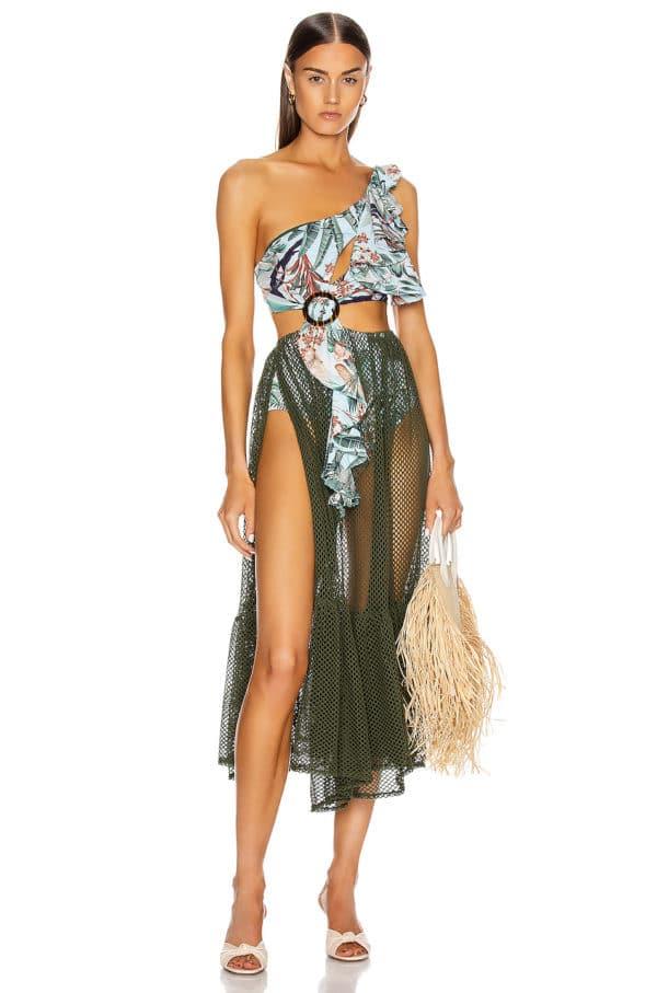 Eden Print Mesh Beach Dress