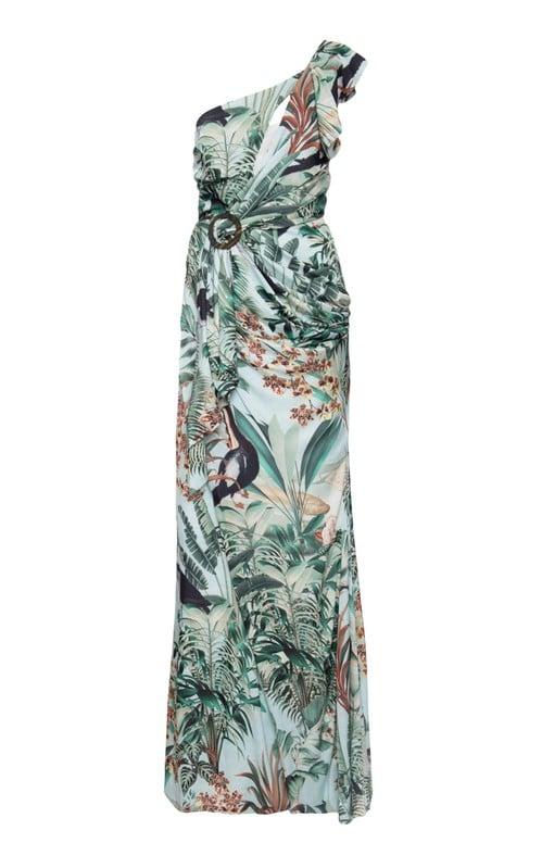 Eden Print One Shoulder Maxi Dress